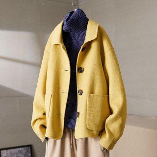 冬装女装2019冬新款女款时尚简约气质修身显瘦双面呢大衣女式外套