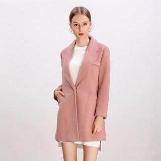 冬季新款韩版时尚气质淑女甜美宽松纯色大衣女潮