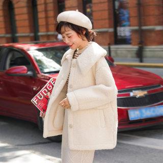 羊羔毛外套女冬季短款2019新款韩版宽松棉衣棉袄羊羔绒