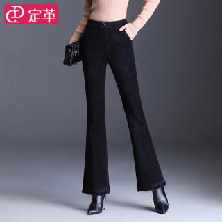 黑色喇叭裤女高腰秋冬季2019新款修身显瘦垂感微喇裤宽松休闲长裤