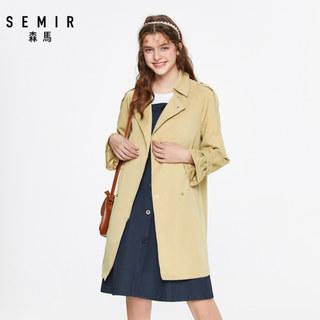 风衣女中长款春季2020新款双排扣学院风休闲潮流外套女小个子
