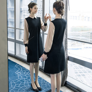 2020春季新款胖mm宽松裙子大码女装时尚撞色休闲洋气连衣裙女