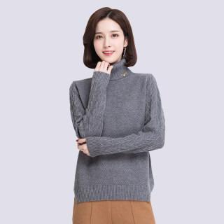纯羊毛衫女韩版毛衣加厚宽松针织衫秋冬女装打底全羊毛衫短款