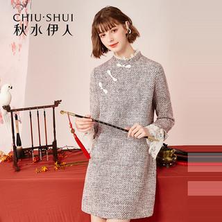 国风旗袍改良版连衣裙冬装2020新款女装中长款女裙