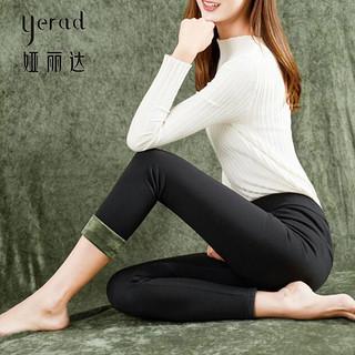女裤冬季新款黑色打底裤女外穿加绒加厚大码高腰铅笔裤