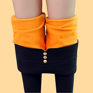 魔术黑色打底裤女裤外穿加绒加厚2020春季新款新款秋冬季高腰显瘦紧身小脚保暖长裤
