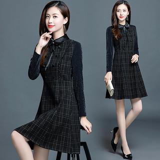 2020春季新款打底裙配大衣的潮裙子收腰气质显瘦小个子女连衣裙