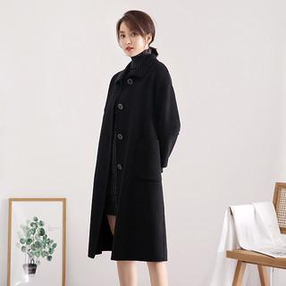 2020新款双面呢羊毛大衣宽松保暖网红风秋冬季休闲时尚