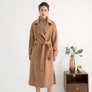 秋冬季新款宽松毛呢外套女2020双面呢韩版大衣中长款