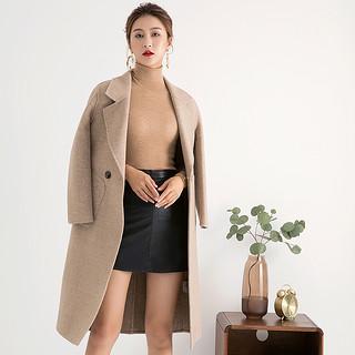 2020韩版双面羊毛大衣女中长款宽松外套秋冬新款