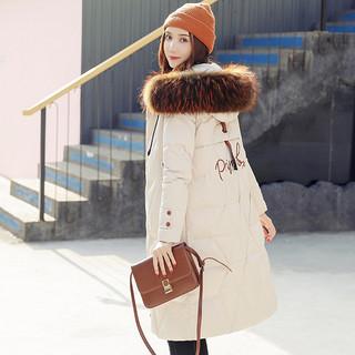 2020冬女款休闲刺绣外套羽绒服