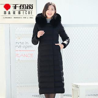 冬新品羽绒服女装超长过膝长款韩版狐狸毛领外套