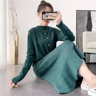 【品质女装两件装针织衫】2020女装春装新款显瘦两件套