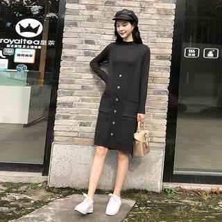女装2020春装新款显瘦气质中长款背心裙马甲羊毛针织两件套