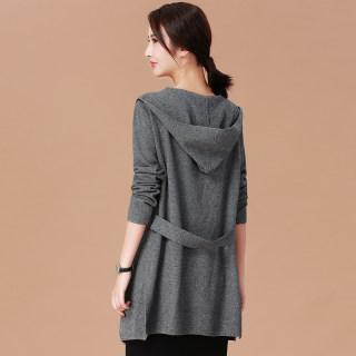 毛针织衫女慵懒风毛衣外套女2020春季新款中长款休闲宽松开衫