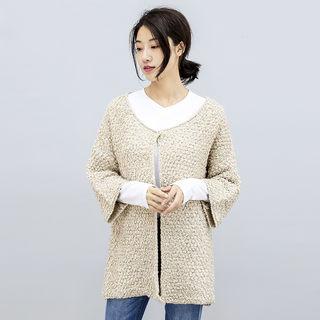 2020春季新款休闲开衫针织衫外套 韩版中长款宽松舒适针织毛衣