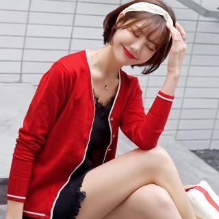 绒开衫外套女新款毛衣宽松外搭春秋装薄款上衣秋季针织衫