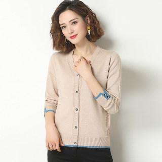 2020新款春秋女士毛衣时尚宽松开衫多色可选针织衫