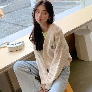 2020春装新款韩版针织开衫女外搭外套毛针织衫