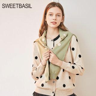 短款毛衣开衫女紫淑2020春新款小个子复古洋气针织短外套