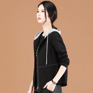 春季新款休闲外套女装韩版短款2020百搭连帽时尚长袖开衫