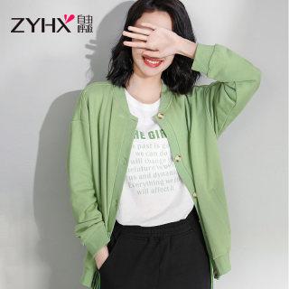 棒球服休闲外套女2020春秋季韩版时尚女装开衫短款上衣潮
