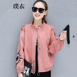 2020春装新款 女韩版百搭立领开衫棒球服短款宽松长袖外套