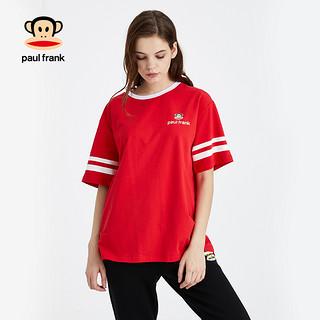 2020春季新款短袖T恤韩版条纹LOGO印花宽松潮