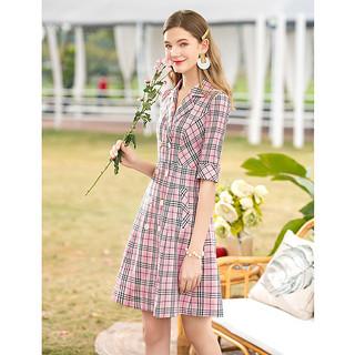 2020春夏新款时尚气质格子内搭 盐系北欧风连衣裙