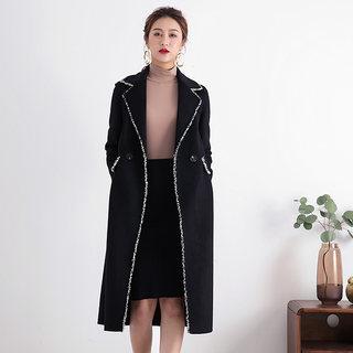 双面羊毛大衣女2020流行新款秋冬装中长款修身呢子大衣毛呢外套女