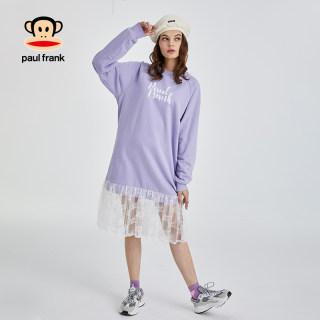 2020春季新款连衣裙女韩版印花气质网纱中长裙