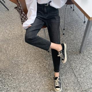 2020春装新款韩版矮个子宽松老爹裤哈伦牛仔裤