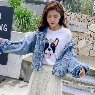 2020新款春装少女潮流显瘦夹克衫韩版牛仔外套原宿风工装短款