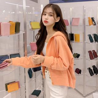 2020春装新款韩版休闲连帽百搭学生显瘦短外套女