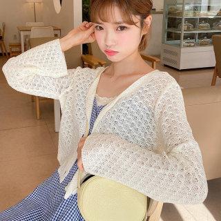 2020女装新款宽松短款洋气空调开衫长袖短外套