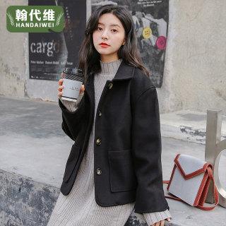 毛呢外套女短款2020年大衣外套女韩版呢子学生宽松西装