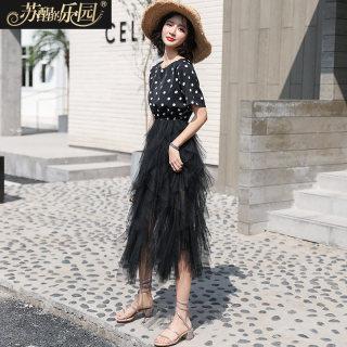 2020夏新款韩版仙女雪纺连衣裙女装短袖连衣裙