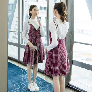 2020春新款女装加肥加大200斤胖mm时尚宽松显瘦两件套连衣裙