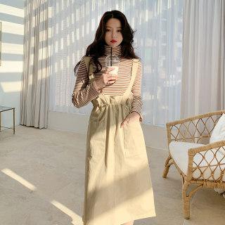 2020春装新款韩版女装背带中长裙宽松百搭连衣裙
