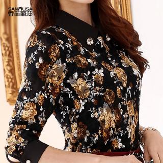 2020秋装新款女装韩版黑色蕾丝打底衫女秋冬装修身显瘦立领长袖上衣