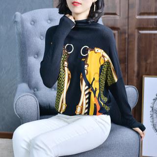 春款宽松蝙蝠袖针织衫时尚长袖薄款配裙子上衣外套2020新款