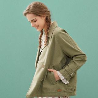 工装外套女短款2020春装新款宽松茧型风衣女百搭夹克女
