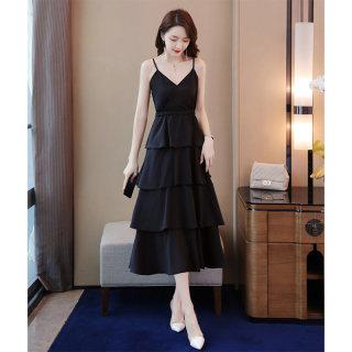 2020夏细吊带连衣裙夏超仙甜美收腰显瘦气质性感