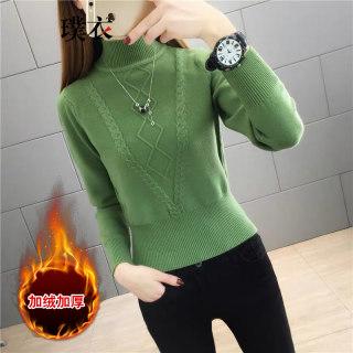 2020秋冬季新款 女韩版百搭半高领套头毛衣修身短款长袖针织衫