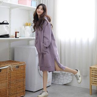 2020秋冬新款韩版中长款卫衣裙打底连衣裙女