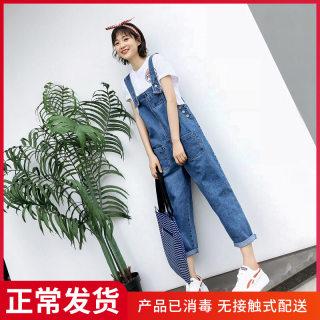 牛仔背带裤女春季新款韩版网红显瘦