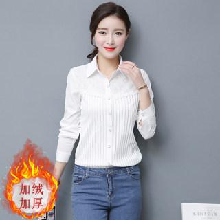 衬衫女春秋2020新款洋气加厚小衫时尚百搭宽松衬衣韩版打底衫
