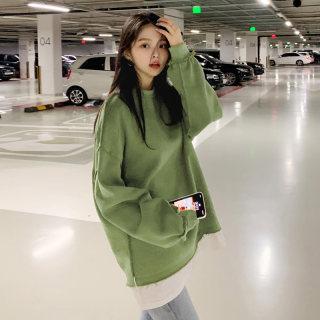 2020秋装新款韩版女装上衣长袖慵懒风宽松卫衣