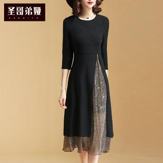 2020春装新款女时尚套装连衣裙圆领短袖外搭吊带背心裙