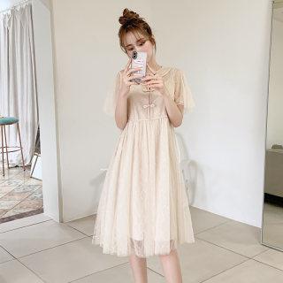 2020春装新款裙子收腰旗袍年轻款国风改良版少女连衣裙